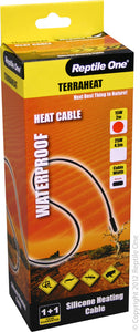 REPTILE ONE HEAT CORD 15W 2M 240V BLACK WATERPROOF