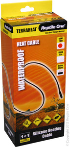 REPTILE ONE HEAT CORD 60W 7.5M 240V BLACK WATERPROOF
