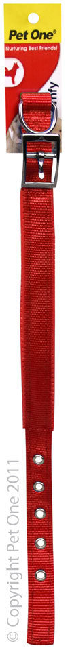 PET ONE 49.5-59.5CM COLLAR NYLON 25MM RED