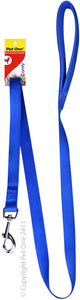 PET ONE 122CM LEASH NYLON PADDED 15MM BLUE