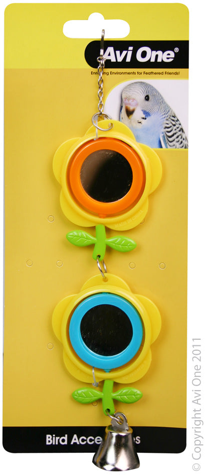 AVI ONE BIRD TOY BUTTERCUP MIRROR