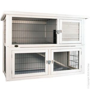 PET ONE 2 STOREY ON GRASS HUTCH