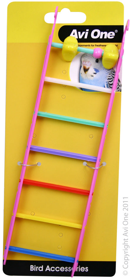 AVI ONE BIRD TOY MULTI COLOURED LADDERS