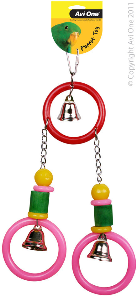 AVI ONE BIRD TOY 3 RINGS 3 BELLS