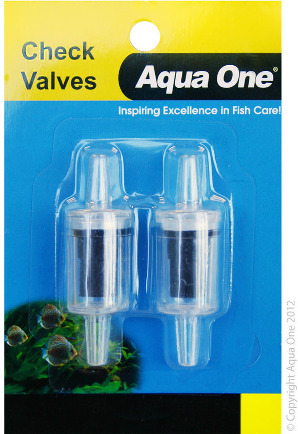 AQUA ONE AIR LINE CHECK VALVE 2PK
