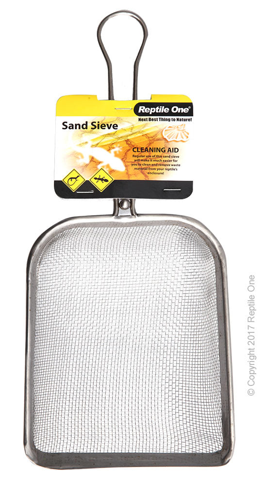 REPTILE ONE SAND SIEVE STEEL MESH 14X17CM