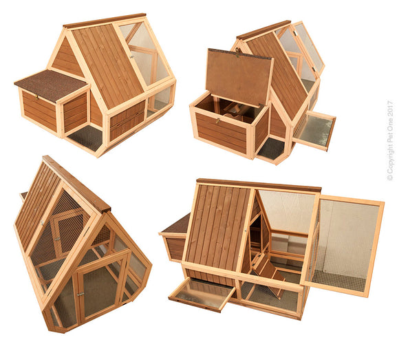 PET ONE CHICKEN HOUSE TIMBER SINGLE STOREY