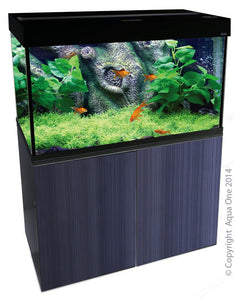 AQUA ONE BRILLIANCE 100 221L AQUARIUM GLOSS BLACK