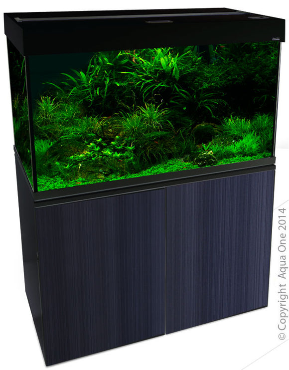 AQUA ONE BRILLIANCE 120 286L AQUARIUM GLOSS BLACK