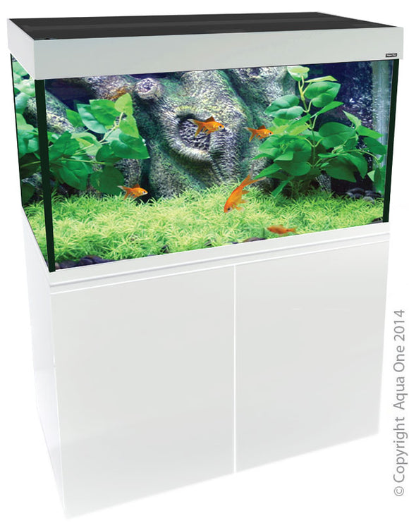 AQUA ONE BRILLIANCE 120 286L AQUARIUM GLOSS WHITE