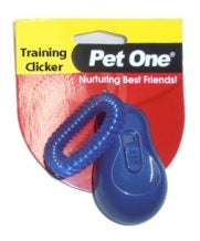 PET ONE TRAINING CLICKER BLUE