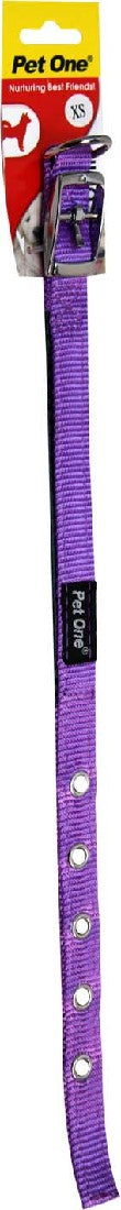 PET ONE 18.5-28.5CM COLLAR NYLON 15MM PURPLE