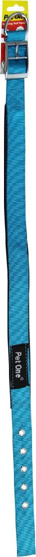 PET ONE 49.5-59.5CM COLLAR NYLON 25MM AQUA