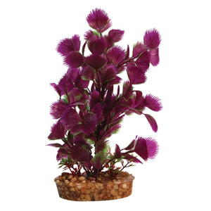 PLASTIC PLANT PURPLE HOTTONIA W GRAVEL BASE MED
