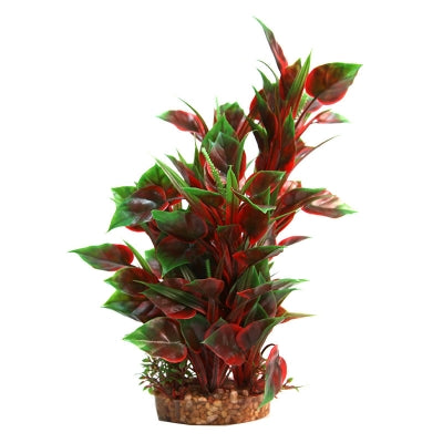 PLASTIC PLANT RED NESAEA W GRAVEL BASE LGE