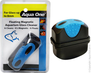 AQUA ONE FLOATING MAGNET CLEANER UP TO 8MM GLASS