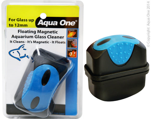 AQUA ONE FLOATING MAGNET CLEANER UP TO 12MM GLASS