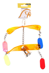AVI ONE PARROT TOY ACRYLIC CROSSED WINDMILL