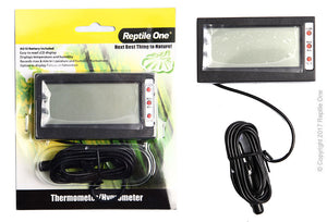 REPTILE ONE THERMOMETER HYGROMETER REPTILE EXTERNAL WITH PROBE AND MIN MAX LCD