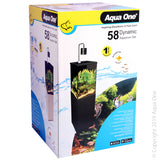 AQUA ONE DYNAMIC 58 AQUARIUM 58L BLACK