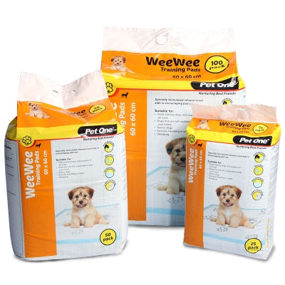 PET ONE WEEWEE TRAINING PAD 25PK
