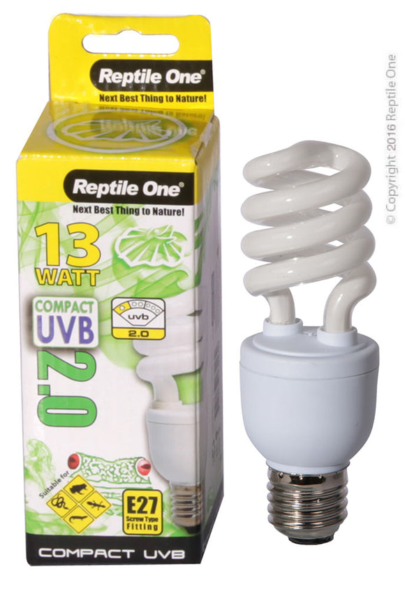 REPTILE ONE COMPACT UVB BULB 13W UVB 2.0