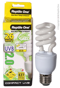 REPTILE ONE COMPACT UVB BULB 26W UVB 2.0