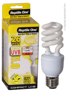 REPTILE ONE COMPACT UVB BULB 26W UVB 5.0