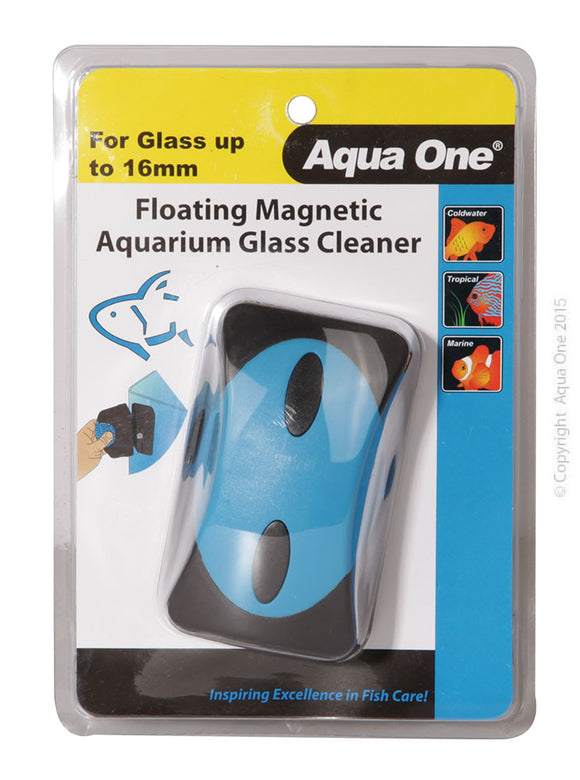 AQUA ONE FLOATING MAGNET CLEANER UP TO 16MM GLASS