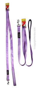 PET ONE 180CM LEASH NYLON PADDED 25MM PURPLE