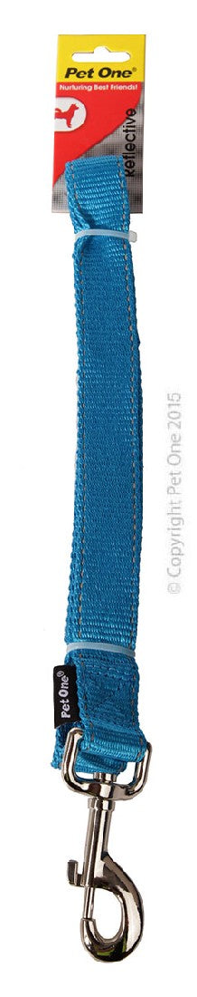 PET ONE LEASH NYLON 120CM 25MM AQUA