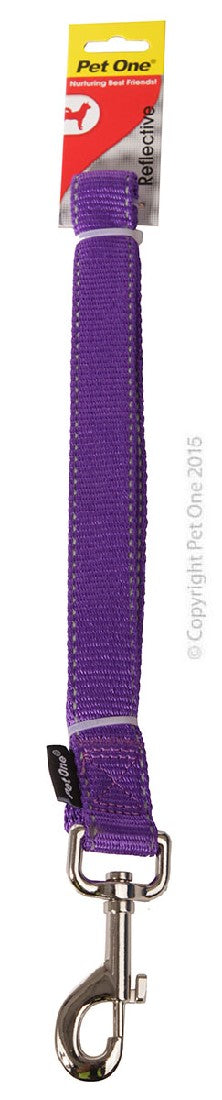 PET ONE LEASH NYLON 120CM 25MM PURPLE