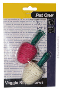 PET ONE VEGGIE ROPE 2PK RADISH
