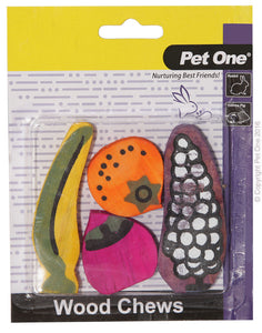 PET ONE WOOD CHEWS 4PK