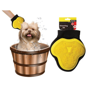 PET ONE GROOMING MIT MEDIUM YELLOW