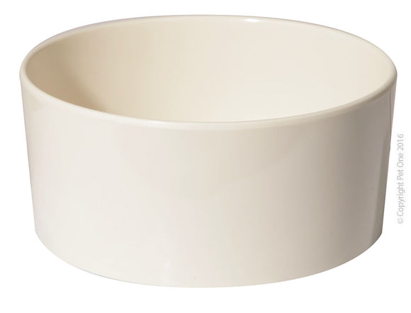PET ONE BOWL MELAMINE SMALL ANIMAL SMALL 13CM DIA x 6.5CM H
