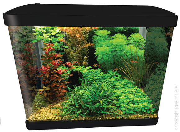AQUA ONE LIFESTYLE 52 AQUARIUM GLOSS BLACK