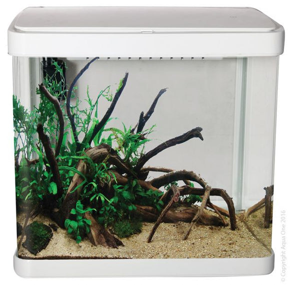 AQUA ONE LIFESTYLE 52 AQUARIUM GLOSS WHITE