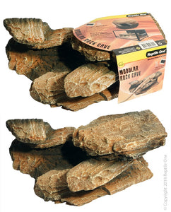 REPTILE ONE ROCK CAVE MODULAR STACKABLE HEAT MAT READY LARGE