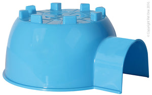 PET ONE SMALL ANIMAL HIDE PLASTIC IGLOO BLUE (L)