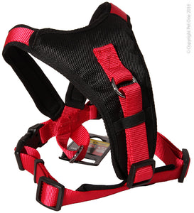 PET ONE 46-56CM HARNESS COMFY 20MM PADDED BLACK