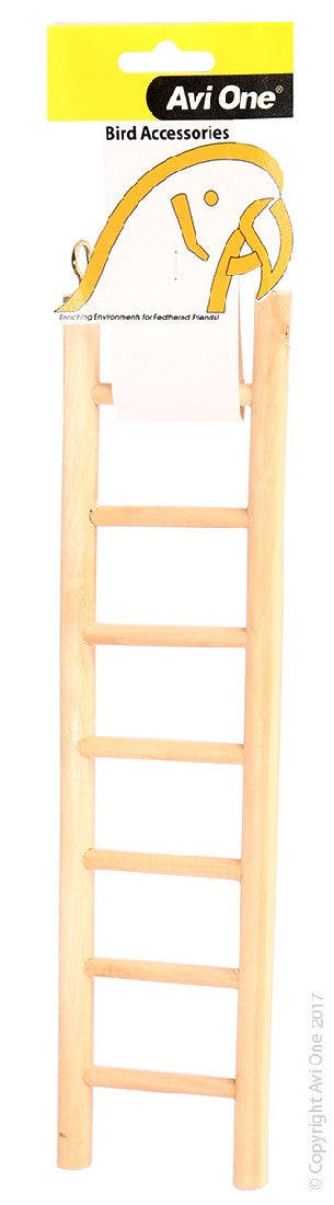 AVI ONE BIRD TOY WOODEN LADDER 7 RUNG