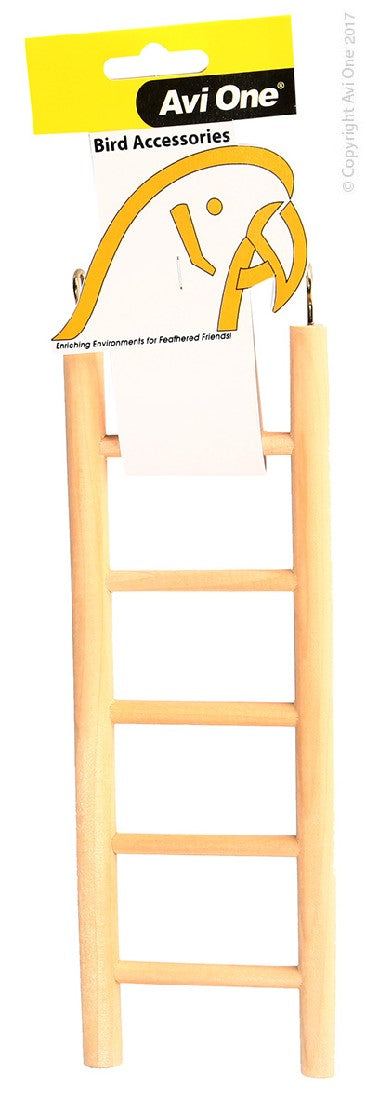 AVI ONE BIRD TOY WOODEN LADDER 5 RUNG