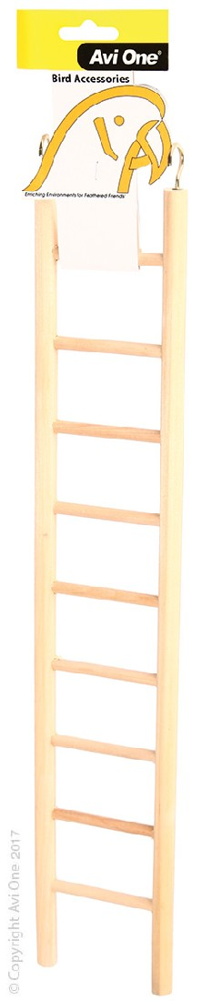 AVI ONE BIRD TOY WOODEN LADDER 9 RUNG