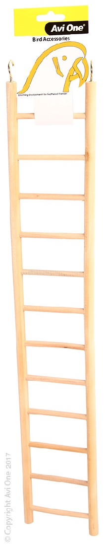 AVI ONE BIRD TOY WOODEN LADDER 12 RUNG