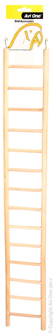 AVI ONE BIRD TOY WOODEN LADDER 14 RUNG