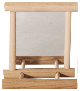 AVI ONE BIRD TOY WOOD FRAMED MIRROR WITH SEAT