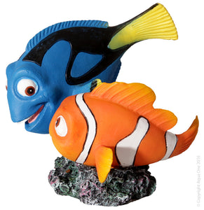 AQUA ONE ORNAMENT BLUE TANG AND CLOWNFISH