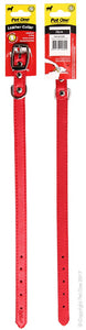 PET ONE COLLAR LEATHER 35CM RED