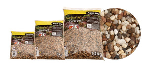 AQUA ONE NATURAL GRAVEL AUSTRALIAN GOLD DARK MIX 2KG